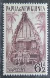 Poštovní známka Papua Nová Guinea 1952 Tradiční obydlí Mi# 10