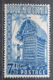 Poštovní známka Papua Nová Guinea 1952 Tradiční obydlí Mi# 12 Kat 11€