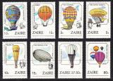 Poštovní známky Zair 1984 Horkovzdušné balóny TOP SET Mi# 867-74 Kat 14€