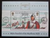 Poštovní známky Ostrov Man 1986 Historické spojení s Amerikou Mi# Block 8