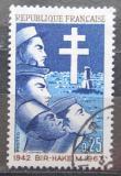 Poštovní známka Francie 1967 Bitva o Bir-Hakeim, 25. výročí Mi# 1599