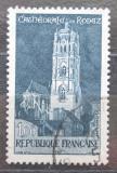 Poštovní známka Francie 1967 Katedrála v Rodez Mi# 1585