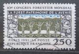 Poštovní známka Francie 1991 Kongres lesního hospodářství Mi# 2857
