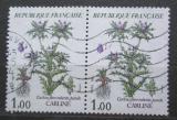 Poštovní známky Francie 1983 Carlina flore rubente pár Mi# 2392