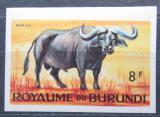 Poštovní známka Burundi 1964 Buvol africký neperf. Mi# 96 B