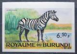 Poštovní známka Burundi 1964 Zebra stepní neperf. Mi# 95 B