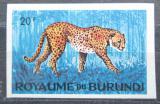 Poštovní známka Burundi 1964 Gepard štíhlý neperf. Mi# 99 B