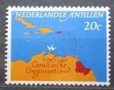 Poštovní známka Nizozemské Antily 1964 Mapa Karibiku Mi# 145
