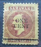Poštovní známka Sarawak 1892 Charles Johnson Brooke přetisk Mi# 21