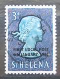 Poštovní známka Svatá Helena 1965 Královna Alžběta II. přetisk Mi# 164