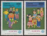 Poštovní známky Turecko 1989 Evropa CEPT, dětské hry Mi# 2854-55 Kat 25€