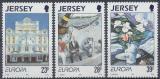 Poštovní známky Jersey 1993 Evropa CEPT, moderní umění Mi# 612-14