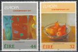 Poštovní známky Irsko 1993 Evropa CEPT, moderní umění Mi# 825-26