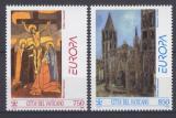 Poštovní známky Vatikán 1993 Evropa CEPT, moderní umění Mi# 1099-1100