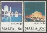 Poštovní známky Malta 1987 Evropa CEPT, moderní architektura Mi# 766-67