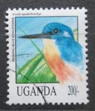 Poštovní známka Uganda 1992 Ledňáček třpytivý Mi# 1146