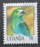Poštovní známka Uganda 1992 Mandelík sahelský Mi# 1149