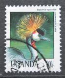 Poštovní známka Uganda 1992 Jeřáb paví Mi# 1150