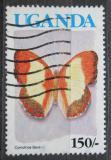 Poštovní známka Uganda 1989 Cymothoe beckeri Mi# 718