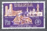 Poštovní známka Uganda 1962 Katedrály Mi# 80
