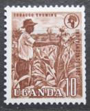 Poštovní známka Uganda 1962 Sběr tabáku Mi# 74