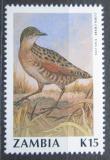 Poštovní známka Zambie 1990 Chřástal polní Mi# 533