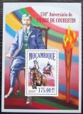 Poštovní známka Mosambik 2013 Pierre de Coubertin, LOH Mi# Block 810 Kat 10€