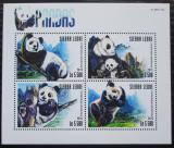 Poštovní známky Sierra Leone 2015 Pandy Mi# 6382-85 Kat 10€