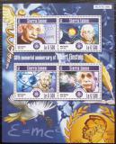Poštovní známky Sierra Leone 2015 Albert Einstein Mi# 6294-97 Kat 12€