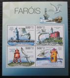 Poštovní známky Guinea-Bissau 2012 Majáky a ptáci Mi# 5852-55 Kat 8€