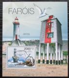 Poštovní známka Guinea-Bissau 2012 Majáky a ptáci Mi# Block 1033 Kat 8€