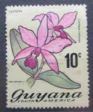 Poštovní známka Guyana 1972 Cattleya violacea Mi# 400 A