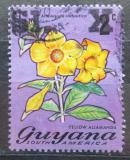 Poštovní známka Guyana 1975 Alamanda počistivá přetisk Mi# N/N