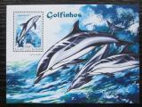 Poštovní známka Guinea-Bissau 2014 Delfíni Mi# Block 1289 Kat 11€