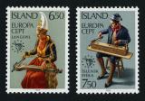 Poštovní známky Island 1985 Evropa CEPT, rok hudby Mi# 632-33