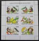Poštovní známky Komory 2009 Entomologové Mi# 2044-49 Kat 14€