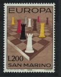 Poštovní známka San Marino 1965 Evropa CEPT, šachy Mi# 842