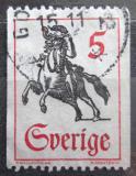 Poštovní známka Švédsko 1967 Poštovní doručovatel na koni Mi# 590 C