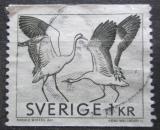 Poštovní známka Švédsko 1968 Jeřáb popelavý Mi# 600 A