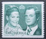 Poštovní známka Švédsko 1976 Královský pár Mi# 953 A