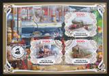 Poštovní známky Gabon 2019 Parní lokomotivy Mi# N/N