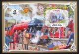 Poštovní známka Gabon 2019 Parní lokomotivy Mi# N/N