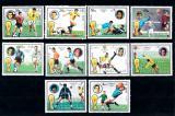 Poštovní známky Fudžajra 1973 MS ve fotbale Mi# 1391-1400 Kat 7€