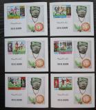 Poštovní známky Rás al-Chajma 1970 MS ve fotbale DELUXE Mi# 354-59 B Bl Kat 30€