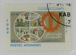 Poštovní známka Afghanistán 1985 Demokratická strana Mi# 1383