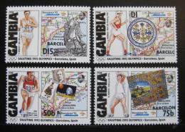 Poštovní známky Gambie 1992 LOH Barcelona Mi# 1320-22,1326