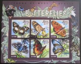 Poštovní známky Sierra Leone 2015 Motýli Mi# 5946-51 Kat 11.50€