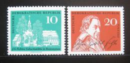 Poštovní známky DDR 1962 Johann Gottlieb Fichte Mi# 889-90