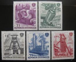 Rakousko 1961 Znárodnìný prùmysl Mi# 1092-96