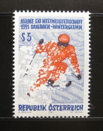 Poštovní známka Rakousko 1991 MS v lyžování Mi# 2014